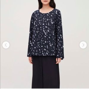 COS navy blue tunic size 12